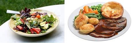 Summer Salad Roast Dinner