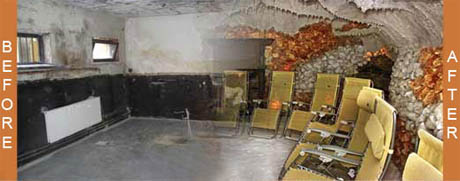 Before and After Salt Cave