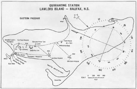 Lawlors Island map