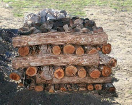 Wood and rocks 460