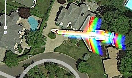 rainbow plane 460