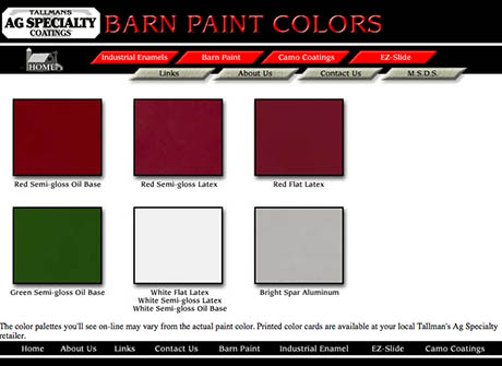 Barn Paint Colours