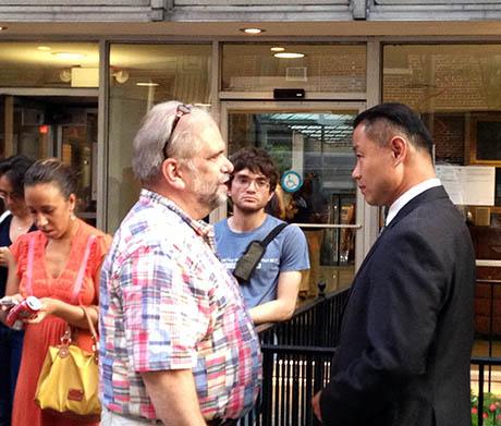 John Liu outside