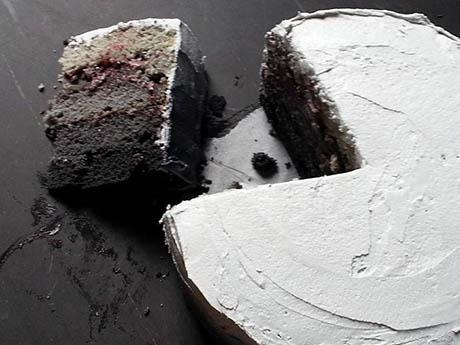 Grey gradient cake