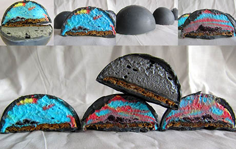 Grey marshmallow cakes 460