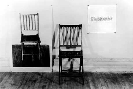 Kosuths One and Three Chairs 460