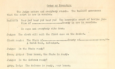 Order of Procedure 460