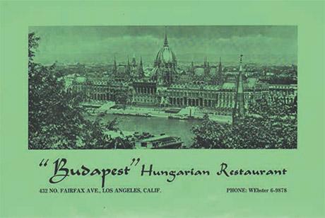 Budapest Hungarian restaurant 460